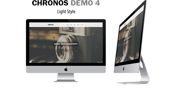 Chronos - Parallax One Page HTML Template