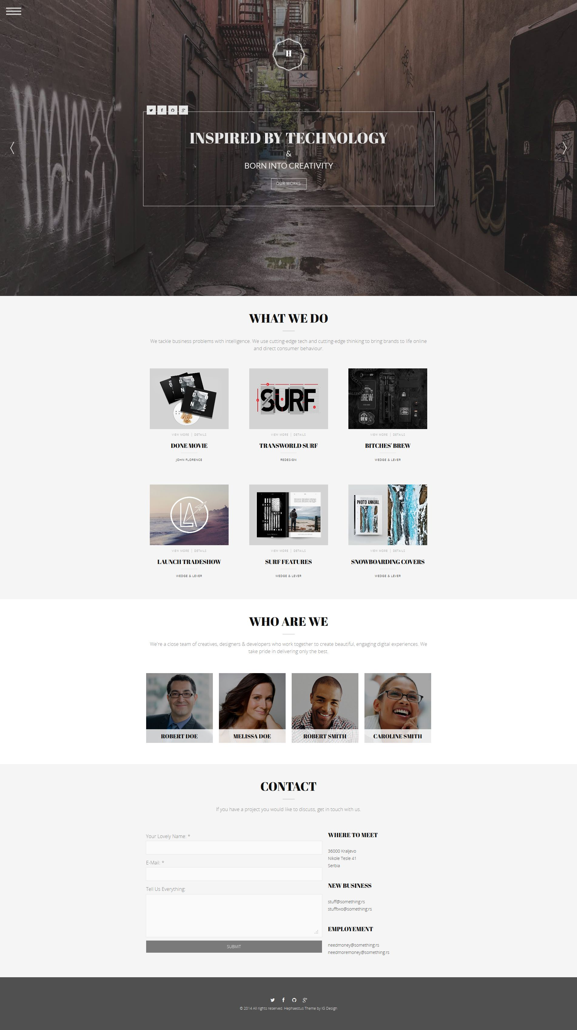 Hephaestus - One-Page Creative Template