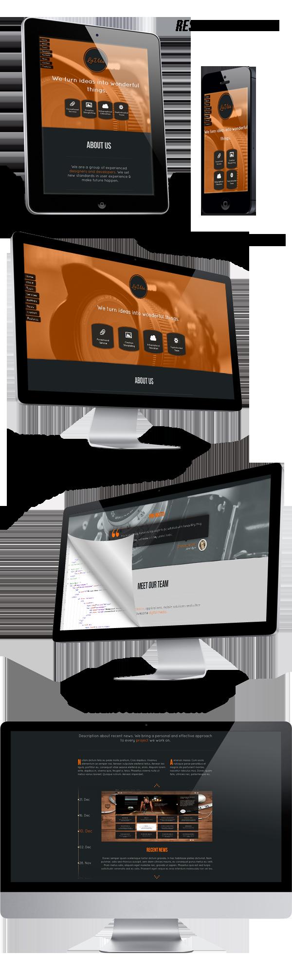 LaVita - Creative One Page HTML5 Template