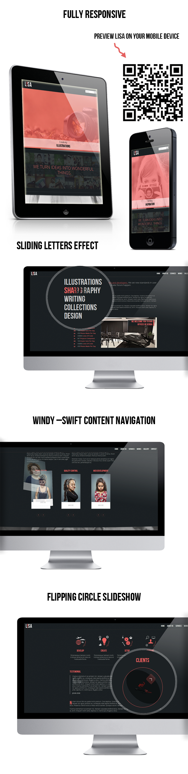 Lisa - Responsive One Page Parallax Template - 1