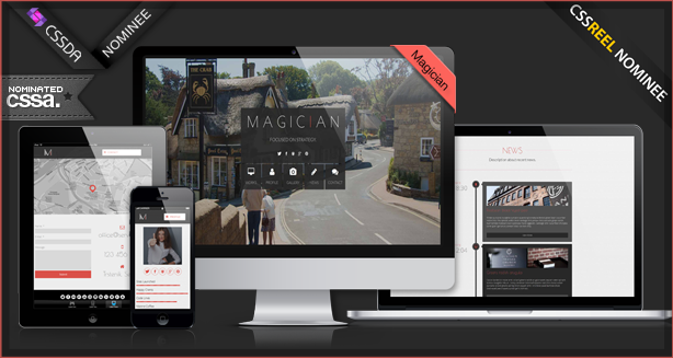 Magician Responsive Parallax WordPress Theme - 9